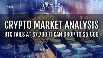 Crypto Market Analysis –  BTC Fails at $7,700 It Can Drop To $5,600