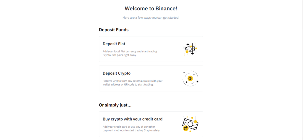 Welcome Binance