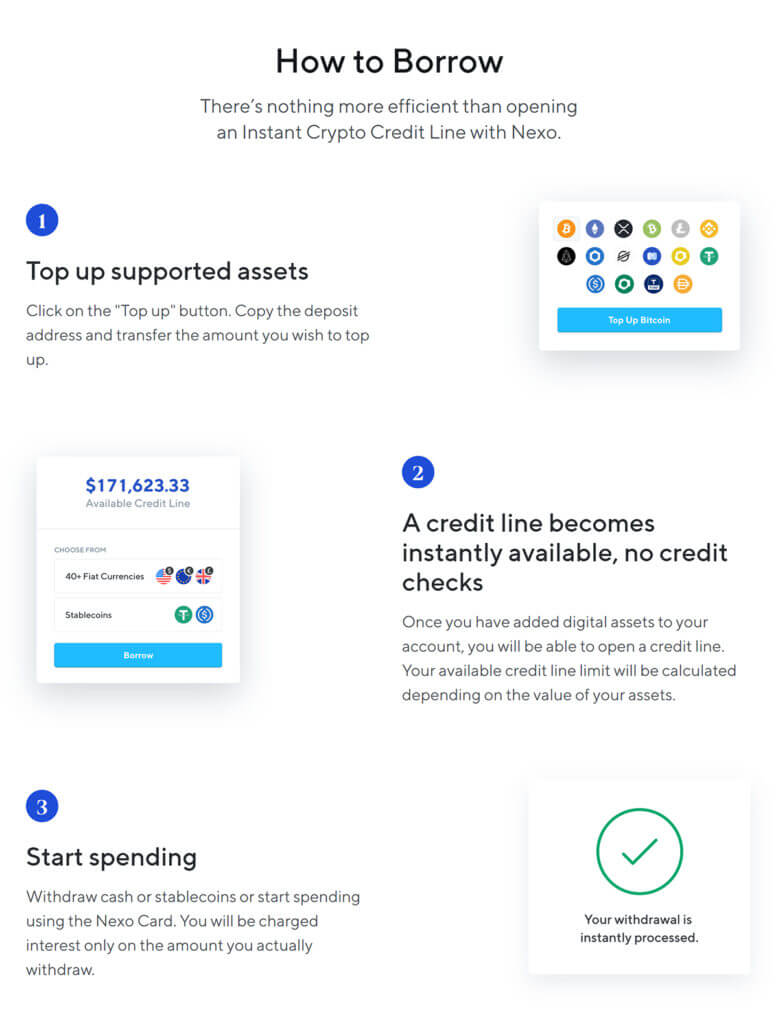 Nexo how to borrow