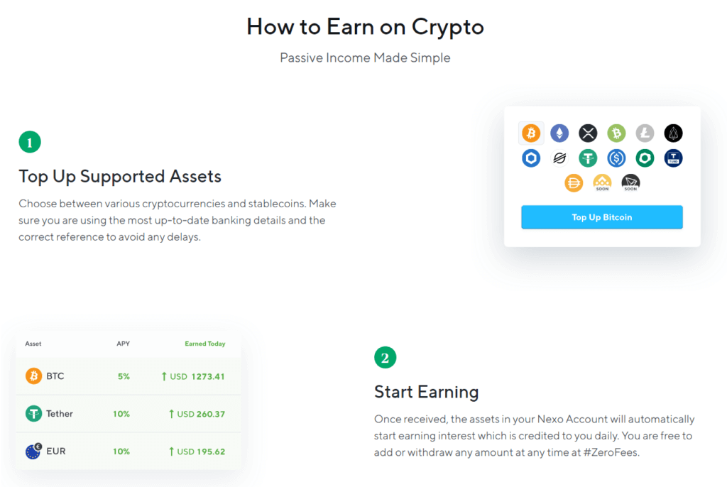 Nexo how to earn